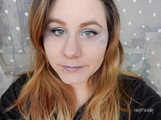 MSC violet paillettes / gris perle : glitter explosion !